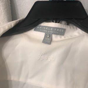 Foxcroft Tops - White Foxcroft Button-Down Shirt